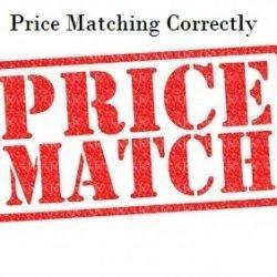 Price Matching Correctly