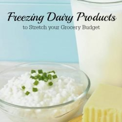 Freezing Dairy Products